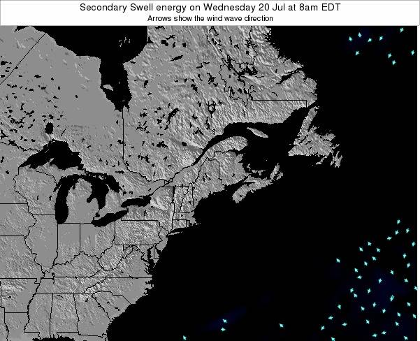 Maine Secondary Swell energy on Tuesday 17 Dec at 7pm EST