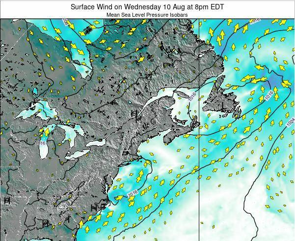 New-Hampshire Surface Wind on Wednesday 29 May at 8am EDT