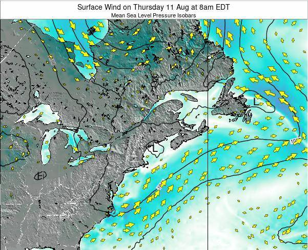 New-Hampshire Surface Wind on Tuesday 28 May at 2am EDT