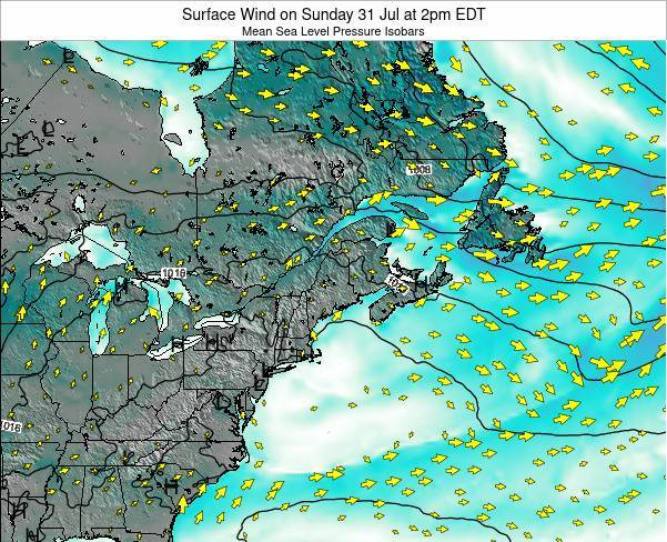 New-Hampshire Surface Wind on Wednesday 22 May at 2pm EDT