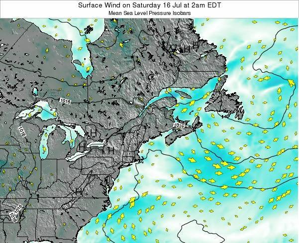 New-Hampshire Surface Wind on Friday 24 May at 2pm EDT