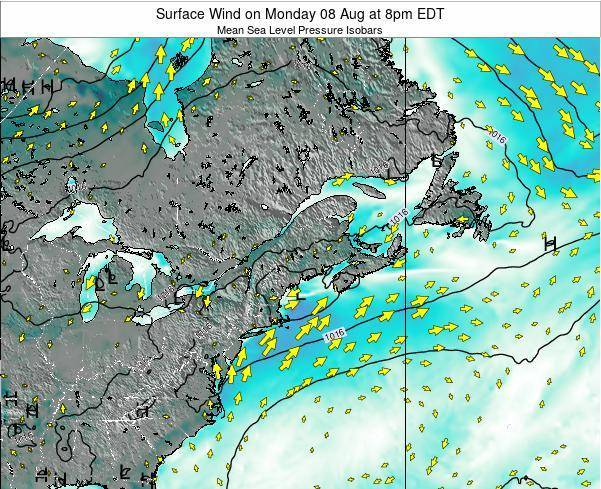 New-Hampshire Surface Wind on Saturday 19 Apr at 8am EDT