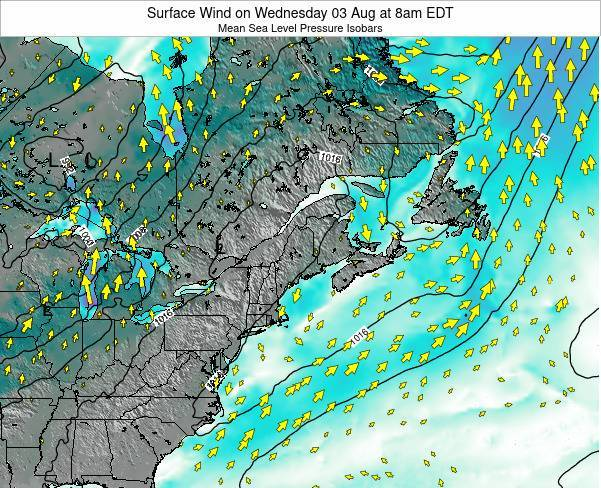 New-Hampshire Surface Wind on Friday 24 Oct at 8pm EDT