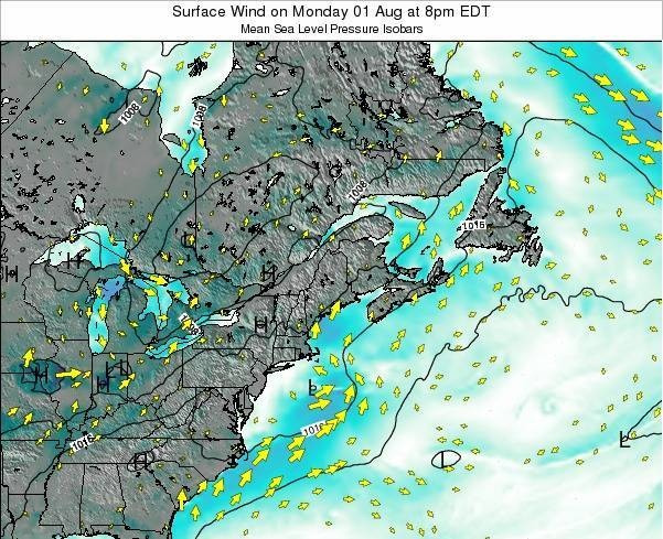New-Hampshire Surface Wind on Thursday 12 Dec at 7am EST
