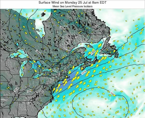 New-Hampshire Surface Wind on Sunday 01 Feb at 1am EST