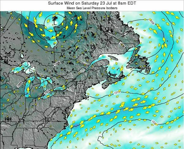 New-Hampshire Surface Wind on Monday 30 May at 8pm EDT