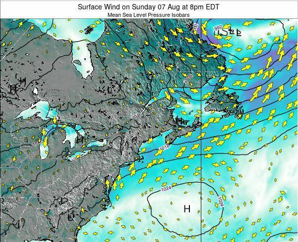 New-Hampshire Surface Wind on Sunday 27 Jul at 2am EDT