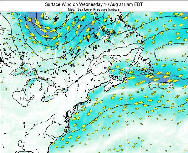 New-Hampshire Surface Wind on Thursday 23 May at 2am EDT