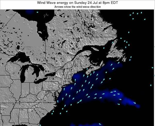 New-Hampshire Wind Wave energy on Sunday 26 Oct at 2pm EDT
