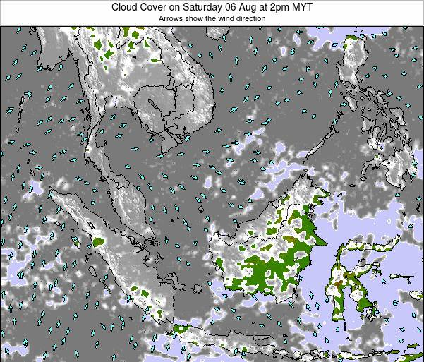 Malaysia Cloud Cover on Thursday 27 Jun at 2am MYT