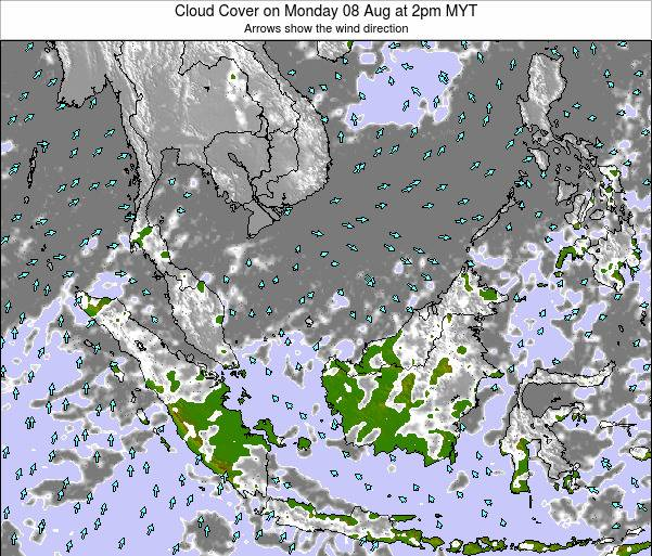 Malaysia Cloud Cover on Thursday 20 Jun at 2pm MYT