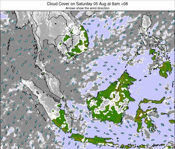 Malaysia Cloud Cover on Sunday 25 Mar at 8am MYT on iran map, french polynesia map, phillipines map, ukraine map, japan map, yemen map, chile map, georgia map, china map, selangor map, united kingdom map, kota kinabalu map, singapore on map, armenia map, europe map, world map, holland map, pacific islands map, sarawak map,