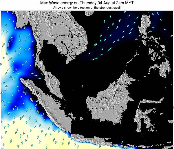 Brunei Darussalam Max Wave energy on Monday 27 May at 8pm MYT