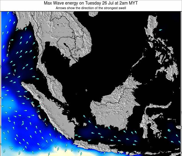 Brunei Darussalam Max Wave energy on Saturday 25 May at 2pm MYT