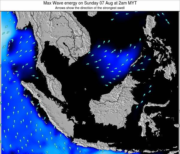 Brunei Darussalam Max Wave energy on Monday 20 May at 2pm MYT
