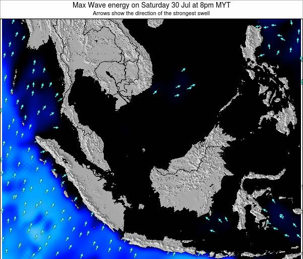 Brunei Darussalam Max Wave energy on Monday 10 Mar at 2pm MYT