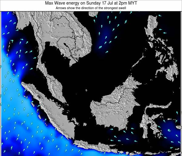 Brunei Darussalam Max Wave energy on Wednesday 12 Mar at 8pm MYT