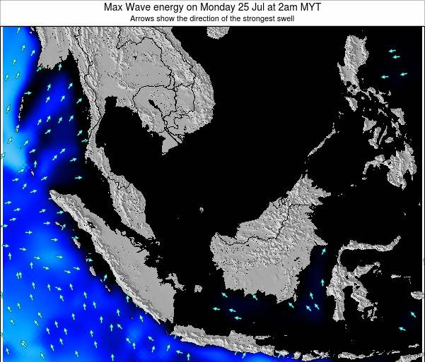 Brunei Darussalam Max Wave energy on Monday 21 Apr at 2pm MYT