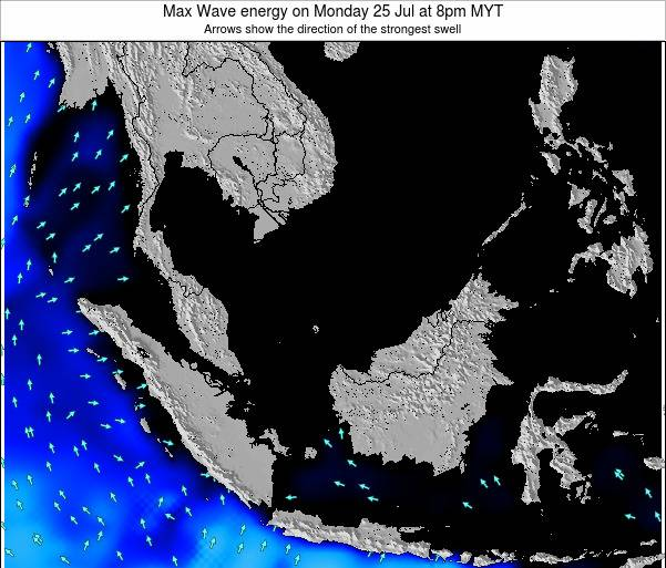 Brunei Darussalam Max Wave energy on Friday 25 Jul at 8am MYT