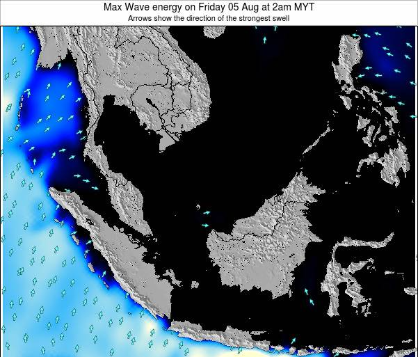 Brunei Darussalam Max Wave energy on Friday 01 Aug at 2am MYT