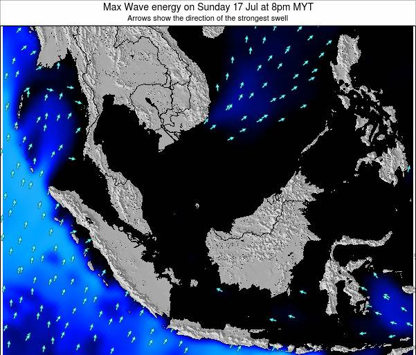 Brunei Darussalam Max Wave energy on Tuesday 28 May at 8am MYT