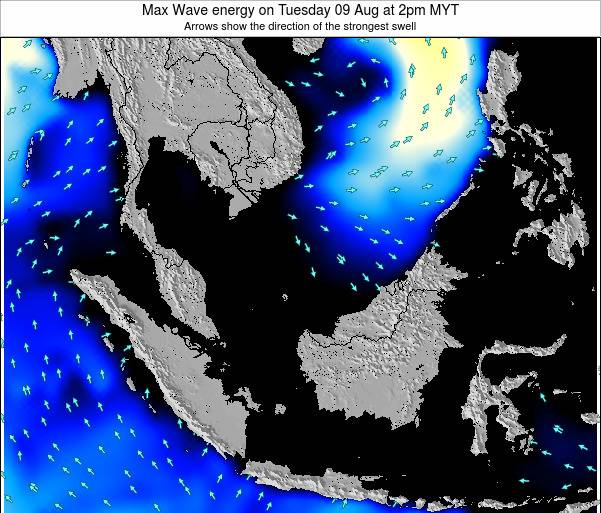Brunei Darussalam Max Wave energy on Thursday 23 May at 2pm MYT
