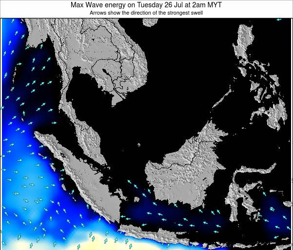 Brunei Darussalam Max Wave energy on Saturday 25 May at 8am MYT
