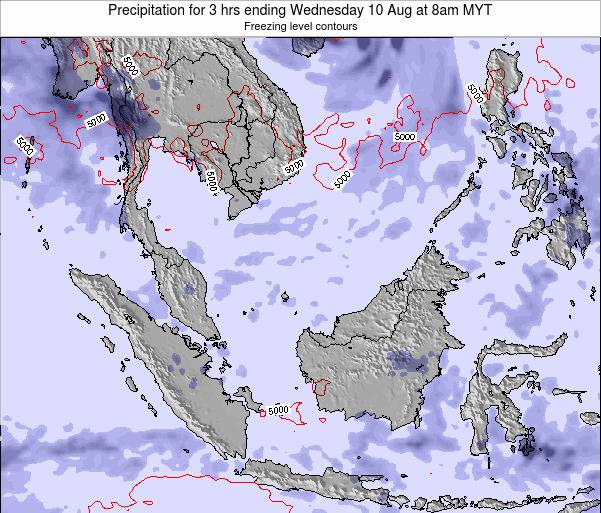 Malaysia Precipitation for 3 hrs ending Saturday 25 May at 2pm MYT map