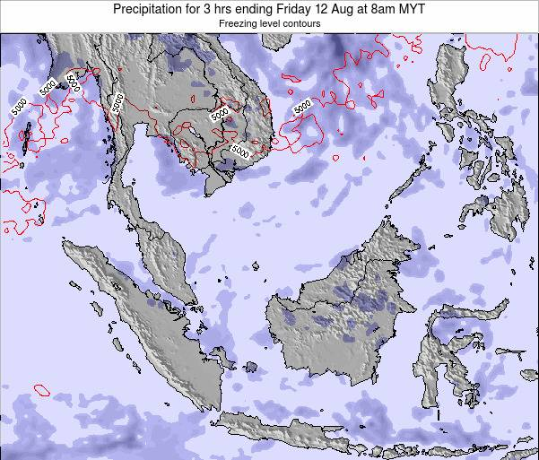 Singapore Precipitation for 3 hrs ending Monday 28 Apr at 2am MYT map