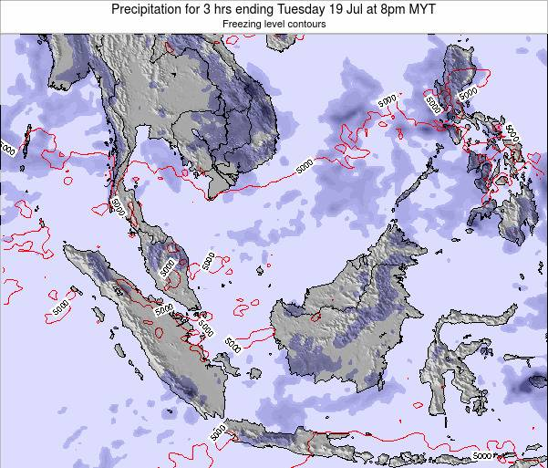 Singapore Precipitation for 3 hrs ending Friday 24 May at 2am MYT map