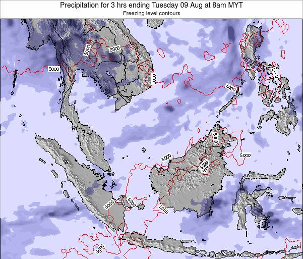 Singapore Precipitation for 3 hrs ending Tuesday 11 Mar at 8pm MYT map