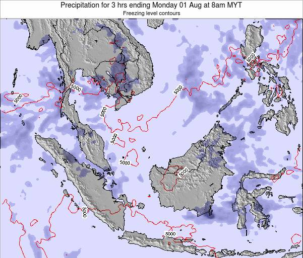 Malaysia Precipitation for 3 hrs ending Friday 24 May at 8pm MYT map