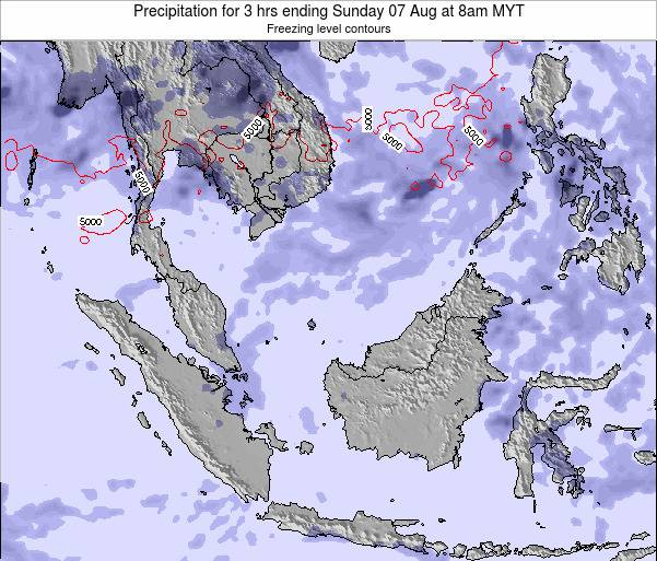Singapore Precipitation for 3 hrs ending Wednesday 12 Mar at 2pm MYT map