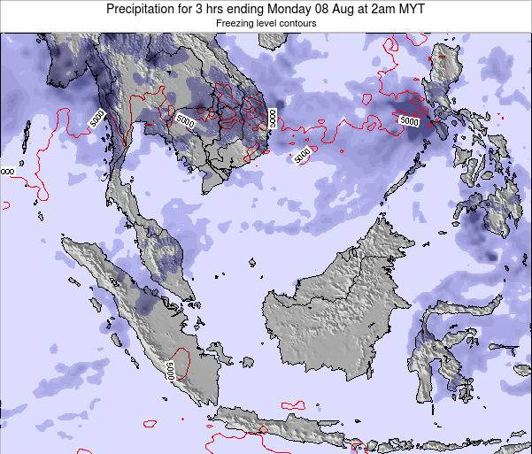 Singapore Precipitation for 3 hrs ending Friday 18 Apr at 2pm MYT map
