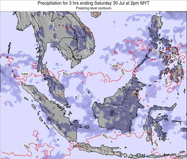 Singapore Precipitation for 3 hrs ending Sunday 27 Jul at 2am MYT map