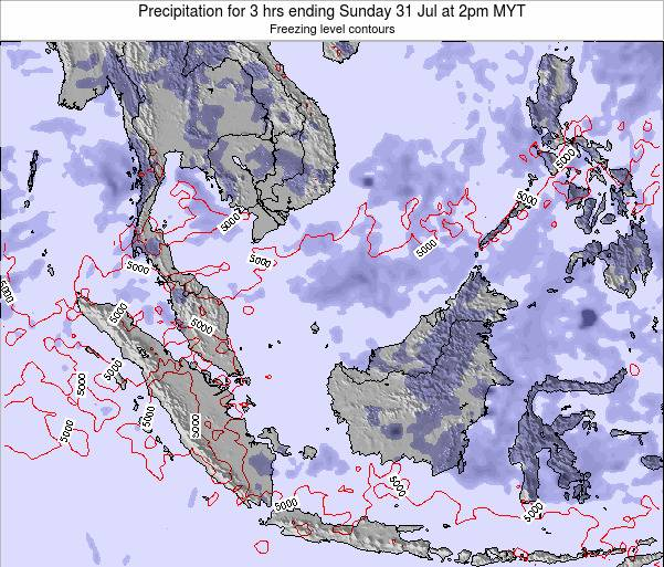 Singapore Precipitation for 3 hrs ending Thursday 05 Dec at 8am MYT map