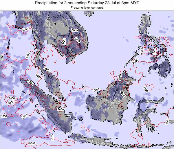 Singapore Precipitation for 3 hrs ending Thursday 31 Jul at 8pm MYT map