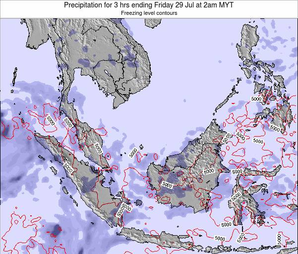 Malaysia Precipitation for 3 hrs ending Tuesday 10 Dec at 2am MYT map
