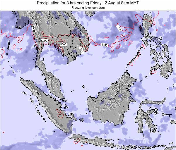 Brunei Darussalam Precipitation for 3 hrs ending Sunday 26 May at 2pm MYT map