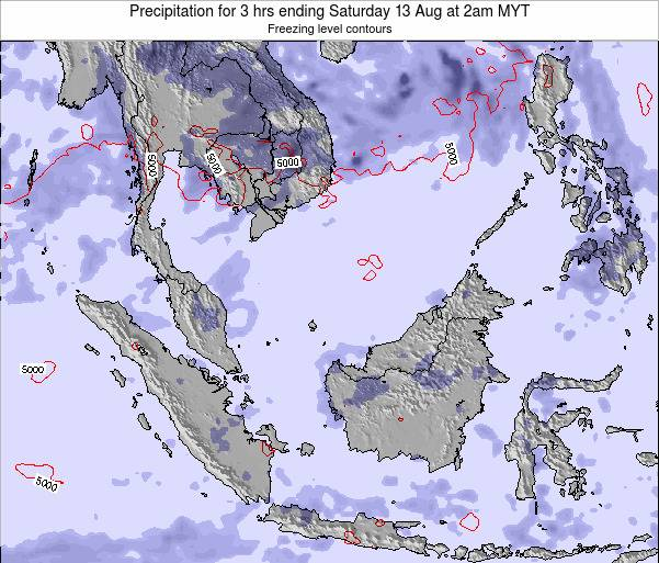 Malaysia Precipitation for 3 hrs ending Tuesday 17 Dec at 2am MYT map