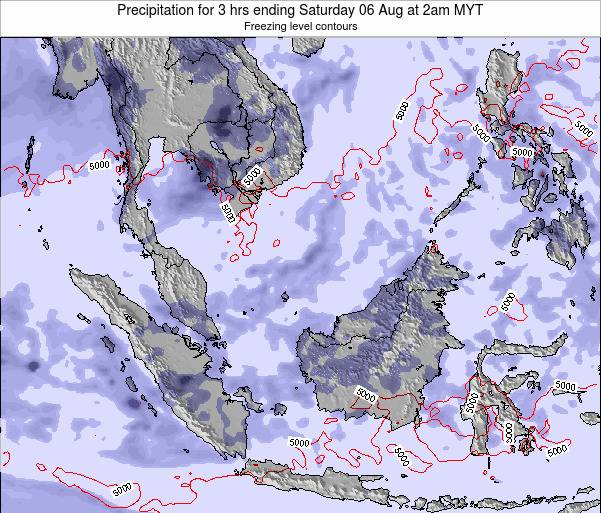 Malaysia Precipitation for 3 hrs ending Tuesday 29 Apr at 2am MYT map
