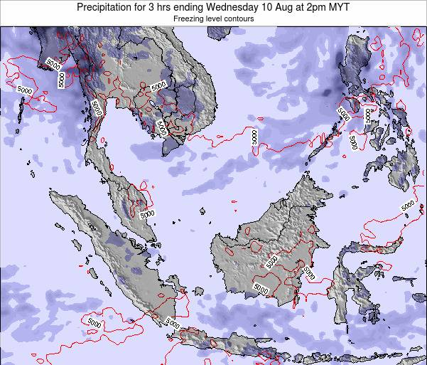 Malaysia Precipitation for 3 hrs ending Tuesday 29 Jul at 8pm MYT map