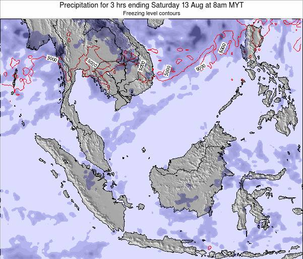 Malaysia Precipitation for 3 hrs ending Monday 24 Jun at 2am MYT map