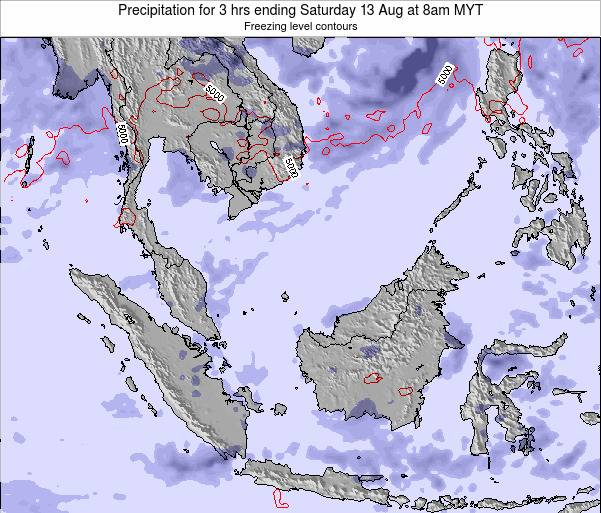Malaysia Precipitation for 3 hrs ending Friday 31 May at 2pm MYT