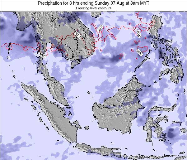 Singapore Precipitation for 3 hrs ending Wednesday 30 Jul at 2pm MYT map