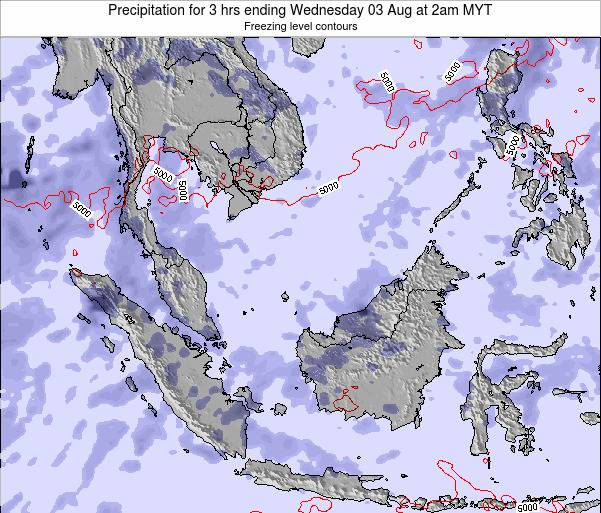 Singapore Precipitation for 3 hrs ending Sunday 19 May at 2pm MYT map