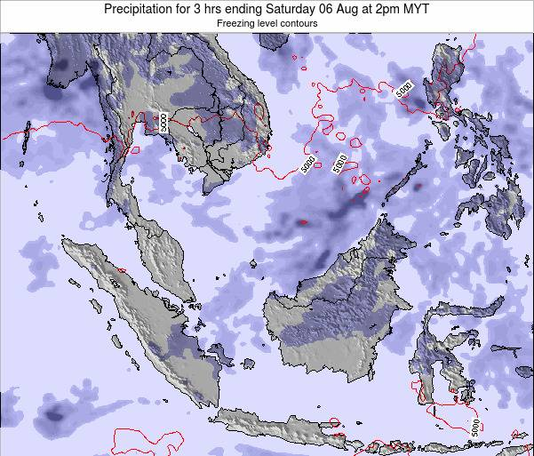 Singapore Precipitation for 3 hrs ending Sunday 20 Apr at 2pm MYT map