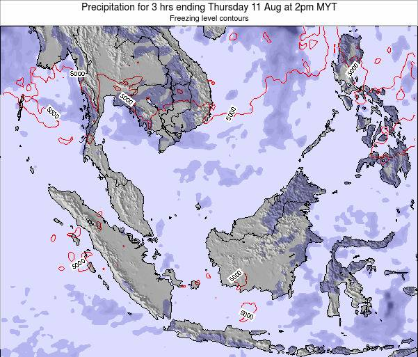 Singapore Precipitation for 3 hrs ending Tuesday 21 May at 8pm MYT map