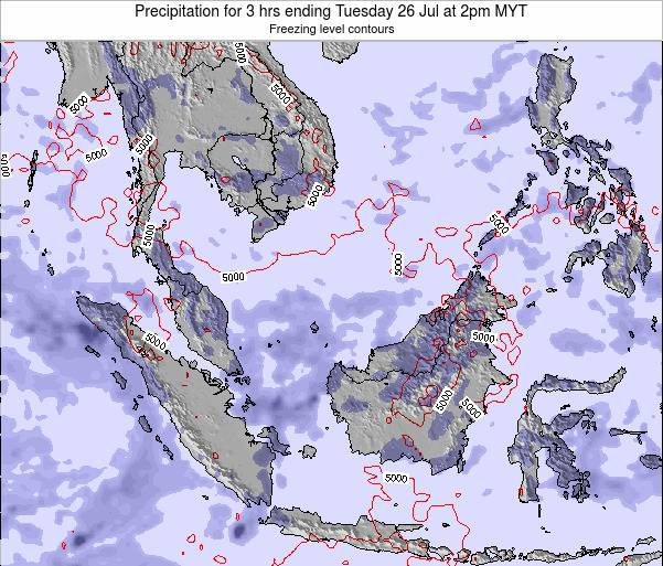 Singapore Precipitation for 3 hrs ending Thursday 24 Apr at 8pm MYT map