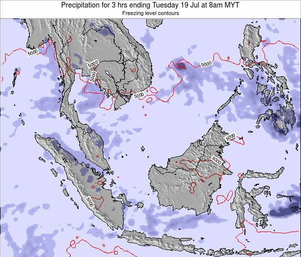 Singapore Precipitation for 3 hrs ending Tuesday 22 Apr at 8am MYT map